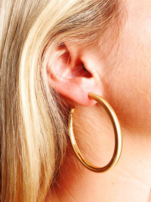 """""""Savvy"""" Gold Hoop Earring"""