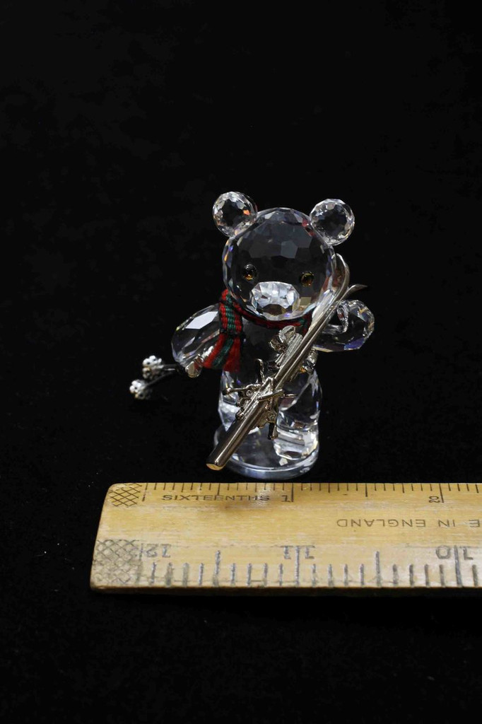 Swarovski Kris Bear with Skis.