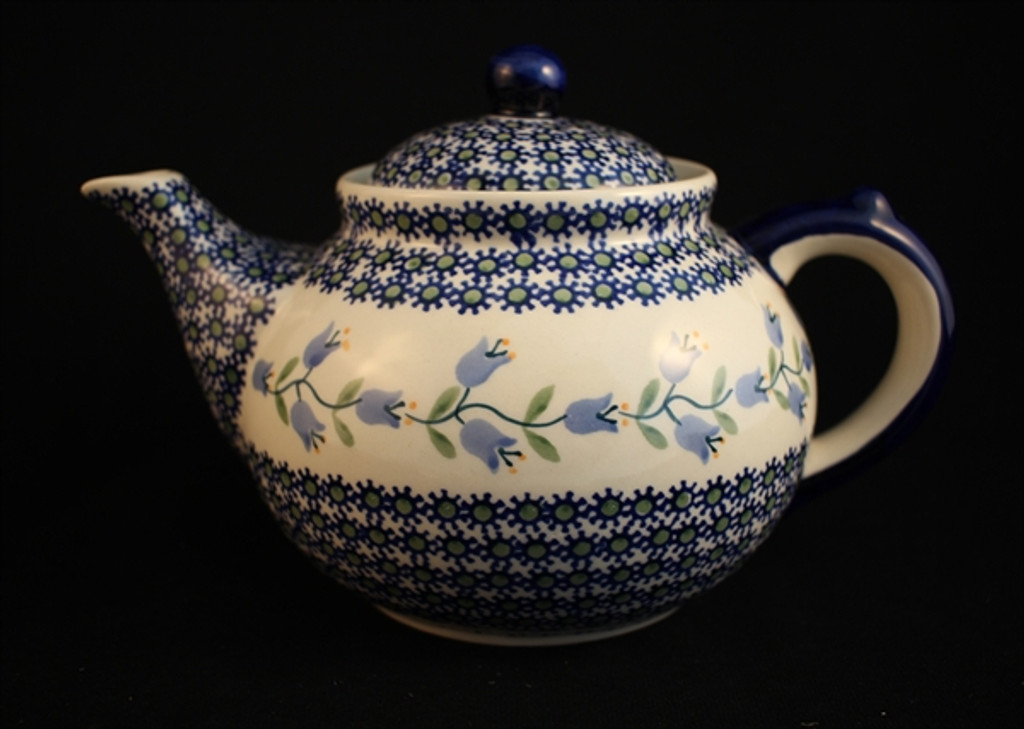 Polish Pottery Trailing Lily Afternoon Teapot
