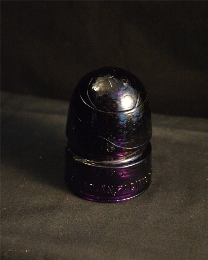 Dark Purple Glass Insulator Canadian Pacific RY CO