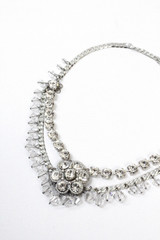 Michal Negrin, Silver, Clear, Crystal, Necklace, #15577