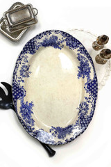 Brittania Style, Blue Bell,  Glasgow, Antique, Oval Platter