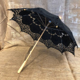 Black Lace Parasol Umbrella Old-Fashioned