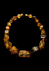 Clear honey amber necklace