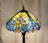Tiffany style floor lamp - mostly light blue