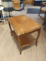 French provincial coffee table with shelf