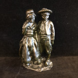 "From the artist, Bernhard Hoetger (1874 to 1949, Germany) a heavy bronze statuette of two children, boy and girl, in old fashioned clothing.  This is an example of this artist's work before his expressionistic period, so it dates to before 1905.  In excellent condition.  Signed. 8.5"" high.   Images are of the actual item offered for sale. SF64685  Ibon Antiques 10423 79 Avenue in Edmonton's Old Strathcona neighbourhood. 780 757 6777"
