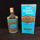 "An unusual vintage ~1970s No. 4711, Original Eau de Cologne, Echt Kolnisch Wasser full and unopened glass bottle, in a whopping 28.2 oz size.  The bottle stands 9.5"" high.  The original, lightly worn cardboard box is included.  The bottle of scent is in excellent condition.  Perfect for the collector of the unusual, or for that soeone who is in love with old perfumes.  GB68402  Ibon Antiques 10423 79 Avenue in Edmonton's Old Strathcona neighbourhood. 780 757 6777"
