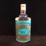 """An unusual vintage ~1970s No. 4711, Original Eau de Cologne, Echt Kolnisch Wasser full and unopened glass bottle, in a whopping 28.2 oz size.  The bottle stands 9.5"""" high.  The original, lightly worn cardboard box is included.  The bottle of scent is in excellent condition.  Perfect for the collector of the unusual, or for that soeone who is in love with old perfumes.  GB68402  Ibon Antiques 10423 79 Avenue in Edmonton's Old Strathcona neighbourhood. 780 757 6777"""