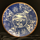 Japanese Igezara Blue and White Charger, Meiji Period