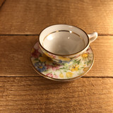 Rosina China, Bone China, Chintz, Vintage Miniature Cup and Saucer