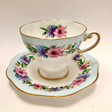 Foley, Cornflower, Blue, Vintage, Cup, Saucer, Steampunk, Fine Bone China, Tea Cup, Tea, Cup