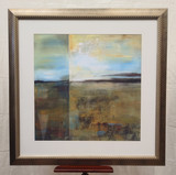 """Gold framed abstract painting/print - """"Green Scheme"""""""