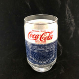 Vintage, Coke, Coca-Cola, Tumbler, Glass, Retro, 1970's, Denim, Uncirculated