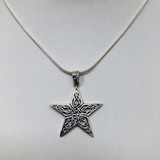 Sterling, Silver, Celtic, Pentacle, Pentagram, Knot, Five Pointed, Star, Pendant, Non-Vintage