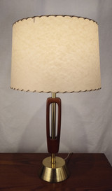 Retro table lamp with parchment shade