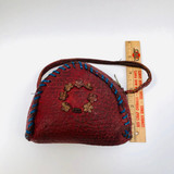 Red, Leather, Small, Child's, Girl's, Purse, Hand Bag, Handbag, Vintage, Antique