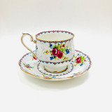 Royal Albert, Petit Point, Vintage, Cup and Saucer, Tea cup, Teacup, Cup, Saucer, England