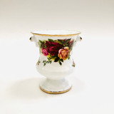 Old Country Roses, Royal Albert, Urn, Vase, Miniature, Vintage, Bone China, Ceramic