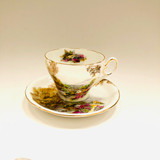 Shelley, Heather, Tea Cup, Teacup, Cup and Saucer, Saucer, Vintage, 1930's, 1940's