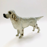 Beswick, Beswick Dog Figurine, Bayldone Baronet, English Setter, No 973, Arthur Gredington, Figurine, Fine Bone China, England, Grey, Vintage, RF70475B