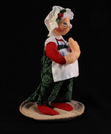 Annalee, Mrs. Claus, Christmas, Xmas, Doll, Figurine, Cloth, Vintage, Handmade