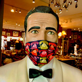 SOLD OUT Face Mask, Mask, Black, Colourful, Neon, Rotary Telephones, Rotary, Telephones, Pattern, 100% cotton, Double layer, Reusable with covered nose wire, Adjustable