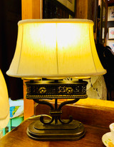 SOLD Table Lamp, Lamp, Banff Springs Hotel, Vintage, Triple Stem, With Shade