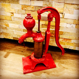 Cylinder, Hand Pump, Pump, Red, Smart, Brockville, Vintage, Cast Iron
