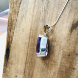 Sterling Silver, Faceted, Amethyst, Crystal, Semi-Precious, Pendant, Teardrop