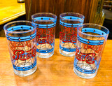 Pepsi, Glass, Tumbler, Stained Glass, Vintage, ~1970s, Pepsi-Cola, Set of FOUR