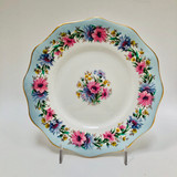 Foley, Cornflower, Blue, Vintage, Plate, Dessert, Fine Bone China, Ceramic.