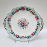 Foley, Cornflower, Blue, Vintage, Cake, Plate, Fine Bone China, Ceramic,  Steampunk