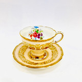 Paragon, Peach, Demitasse, Cup, Saucer, Cup and Saucer, Vintage, Fine Bone China, England, Double Warrant,