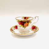 Royal Albert, Old Country Roses, Tea, Cup, Teacup, Saucer, Vintage, Red, Roses, England,