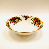 Royal Albert, Old Country Roses, Bowl, Soup, Coupe, Vintage, Red, Roses, England,  Steampunk