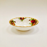 Royal Albert, Old Country Roses, Bowl, Nappie, Fruit, Dessert, Vintage, Red, Roses, England,  Steampunk