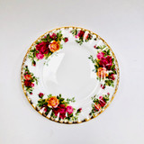 Royal Albert, Old Country Roses, Plate, Bread and Butter, Vintage, Red, Roses, England,  Steampunk