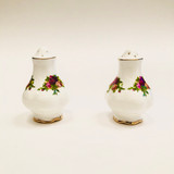 Royal Albert, Old Country Roses, Shakers, Salt, Pepper, Vintage, Red, Roses, England,  Steampunk
