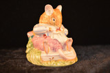 Royal Doulton,  Brambley Hedge, Mr. Toadflax, 1983, Vintage, Rude,