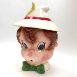 Pinocchio, Metlox, Poppytrail, California, Cookie Jar, Ceramic, Walt, Disney, 1950s