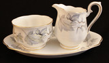 Royal Albert Silver Maple Cream and Sugar with Tray