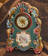 Antique French Ceramic Clock