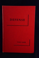 Defense (first translation), by Field Marshall General Ritter von Leeb (1954)