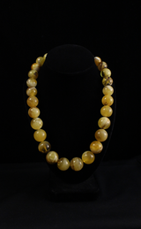 Amber, Round Bead,  Necklace, Graduated, Baltic Amber