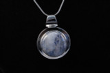 Sterling Silver, Round, Moonstone, Pendant