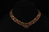 Michal Negrin, Ruby Red, Swarovski, Rhinestones, Necklace, Signed