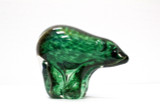 Arte Vargas, Green, Glass, Figurine, Bear, Paperweight, Statue, Signed