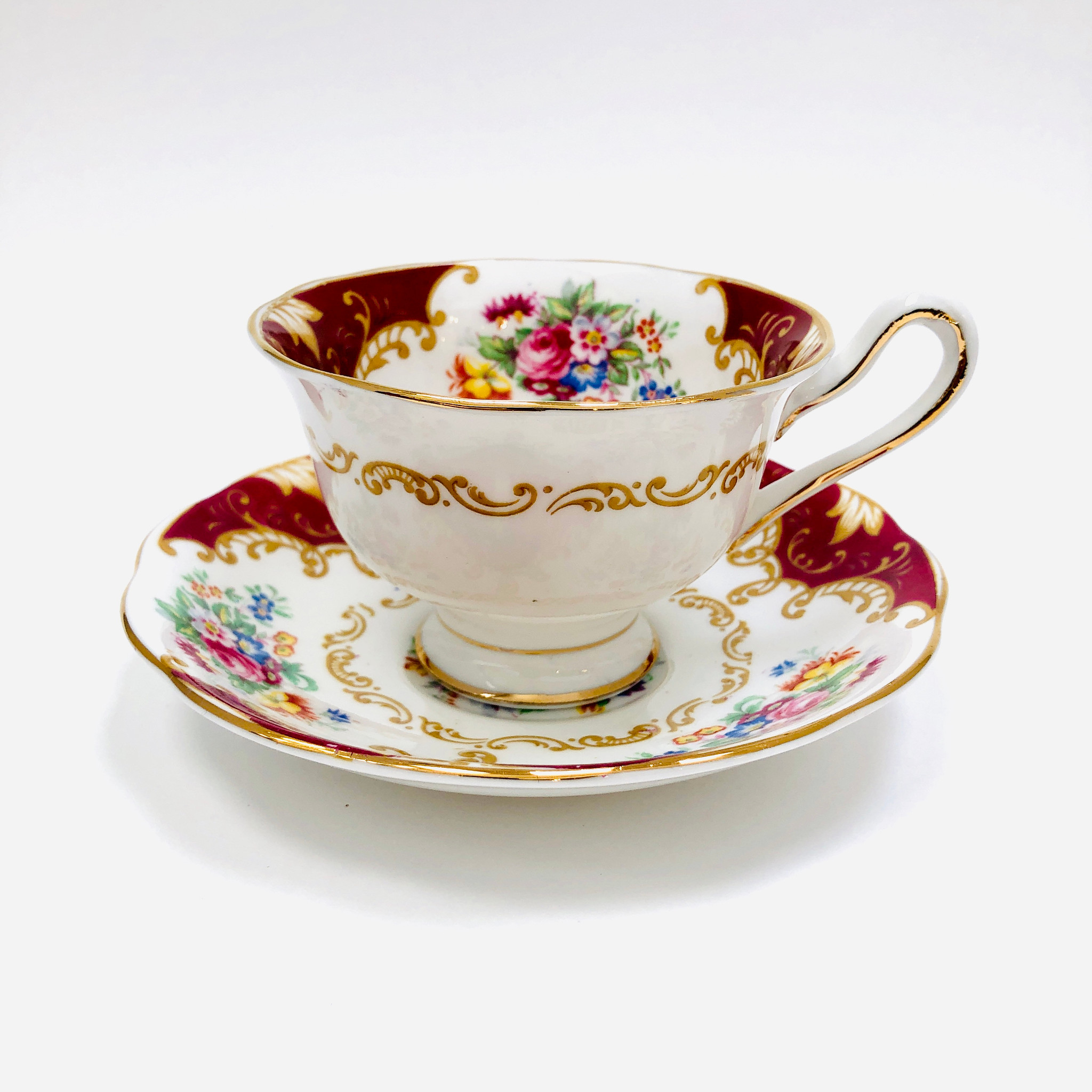 Royal Albert Canterbury Tea Cup Cup Saucer Cup And Saucer Vintage Steampunk Avon England Ibon Antiques