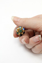 Michal Negrin Rainbow Swarovski Crystal Ring
